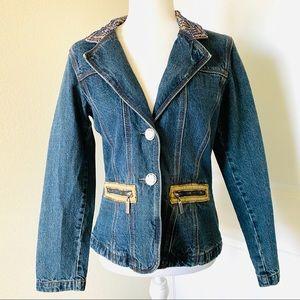 Vintage Playboy Denim Beaded Jacket